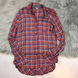 Lucky Brand Plaid Flannel Button Down Shirt